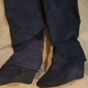 STEVEN BY Steve Madden suede knee boots
